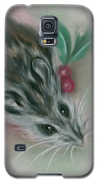 Winter Mouse With Holly Galaxy S5 Case