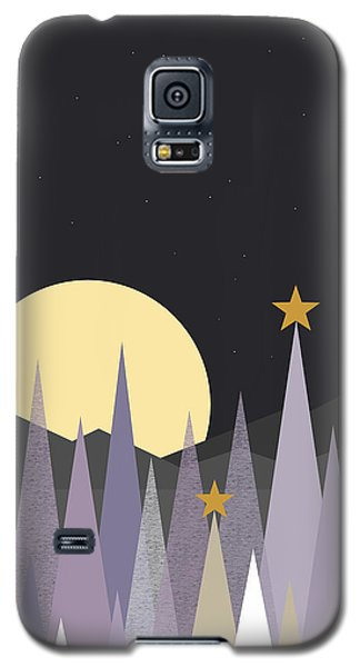 Galaxy S5 Case featuring the digital art Winter Nights - Vertical by Val Arie