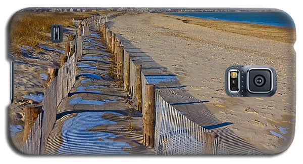 Winter On Duxbury Beach Galaxy S5 Case by Amazing Jules