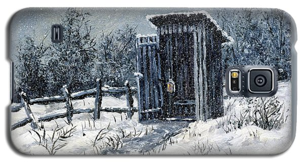 Winter Outhouse #2 Galaxy S5 Case