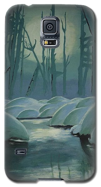 Galaxy S5 Case featuring the painting Winter Quiet by Jacqueline Athmann
