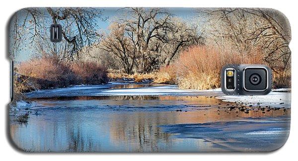 Winter River In Colorado Galaxy S5 Case by Marek Uliasz