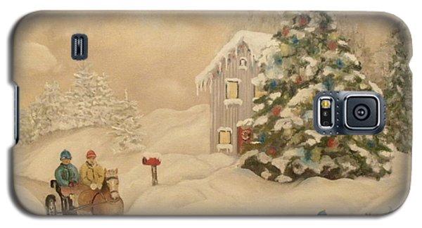 Galaxy S5 Case featuring the painting Winter Scene by John Stuart Webbstock