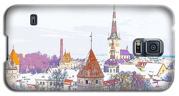 Winter Skyline Of Tallinn Estonia Galaxy S5 Case