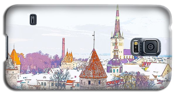 Winter Skyline Of Tallinn Estonia Galaxy S5 Case
