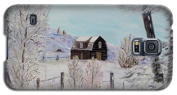 Galaxy S5 Case featuring the painting Winter Solace by Marilyn  McNish