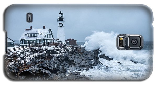 Winter Storm, Portland Headlight Galaxy S5 Case