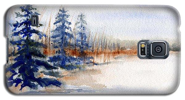 Winter Storm Watercolor Landscape Galaxy S5 Case