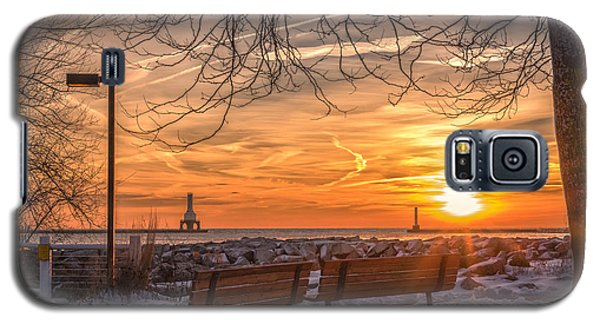 Winter Sunrise In The Park Galaxy S5 Case
