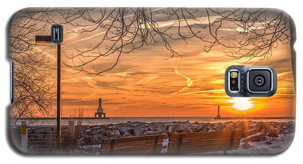 Winter Sunrise In The Park Galaxy S5 Case