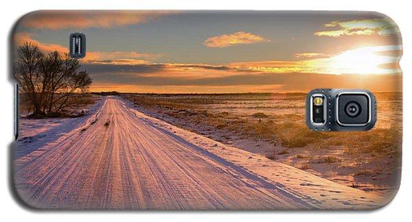 Winter Sunrise Light Galaxy S5 Case