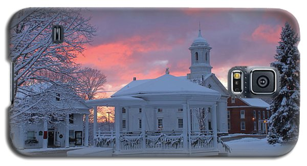 Winter Sunrise On The Common Galaxy S5 Case by John Burk