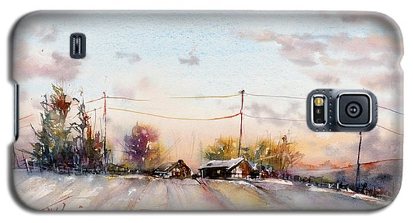 Winter Sunrise On The Lane Galaxy S5 Case by Judith Levins