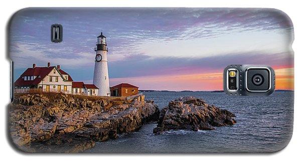 Winter Sunrise Over Portland Head Light Galaxy S5 Case