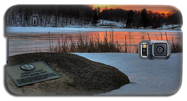 Winter Sunset Abbott Lake Galaxy S5 Case