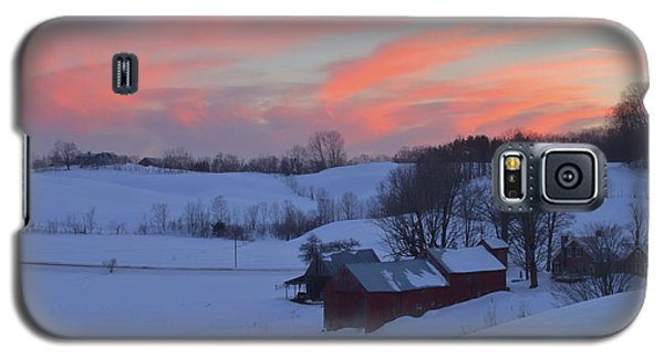 Winter Sunset At Jenne Farm Vermont Galaxy S5 Case by John Burk