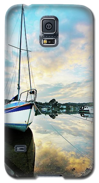 Winter Sunset At Mylor Bridge Galaxy S5 Case