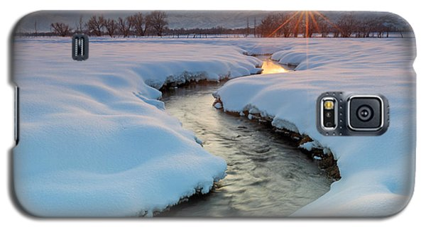 Winter Sunset In Rural Utah. Galaxy S5 Case