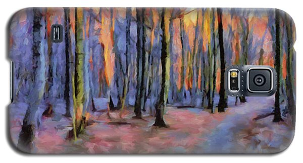 Winter Sunset In The Beech Wood Galaxy S5 Case
