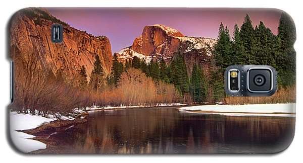 Winter Sunset Lights Up Half Dome Yosemite National Park Galaxy S5 Case