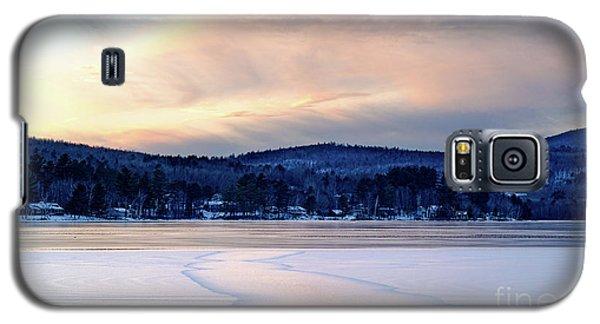 Winter Sunset On Wilson Lake In Wilton Me  -78091-78092 Galaxy S5 Case