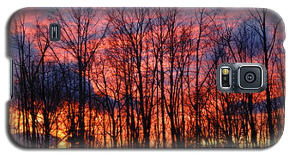 Galaxy S5 Case featuring the photograph Winter Sunset Panorama by Francesa Miller