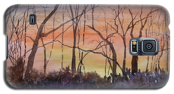 Winter Surprise -a Watercolor Sketch  Galaxy S5 Case by Joel Deutsch