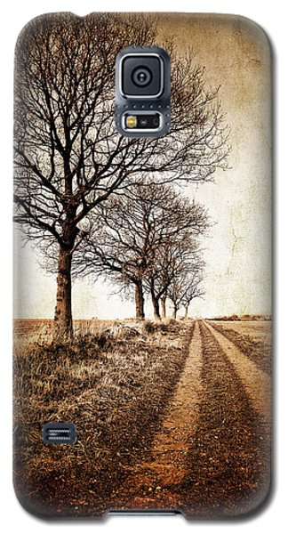 Winter Track With Trees Galaxy S5 Case