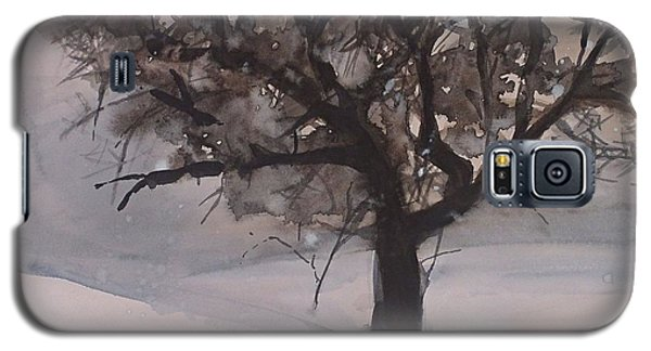 Galaxy S5 Case featuring the painting Winter Tree by Laurie Rohner