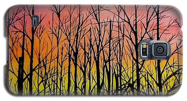 Winter Trees At Sunset Galaxy S5 Case