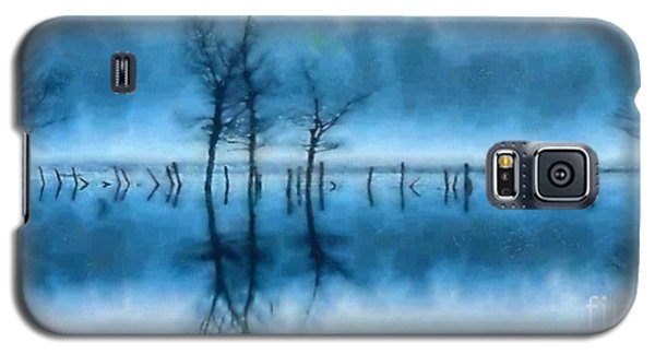 Galaxy S5 Case featuring the painting Winter Trees by Elizabeth Coats