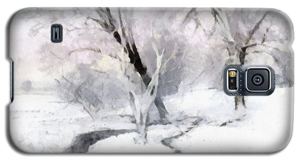 Galaxy S5 Case featuring the digital art Winter Trees by Francesa Miller