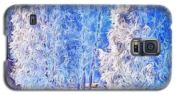 Galaxy S5 Case featuring the digital art Winter Trees by Ron Bissett