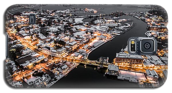 Winter Twilight In Mystic Connecticut Galaxy S5 Case by Petr Hejl
