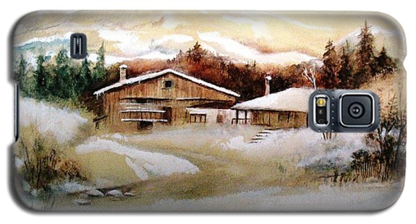 Galaxy S5 Case featuring the painting Winter Wonderland  by Hazel Holland