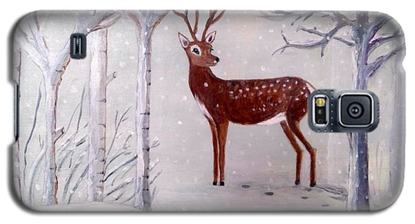 Winter Wonderland - Painting Galaxy S5 Case by Veronica Rickard