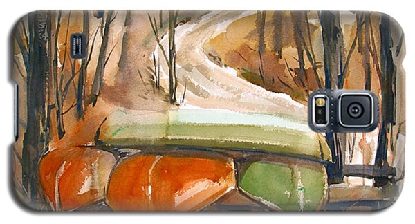 Galaxy S5 Case featuring the painting Wintering Over by Charlie Spear