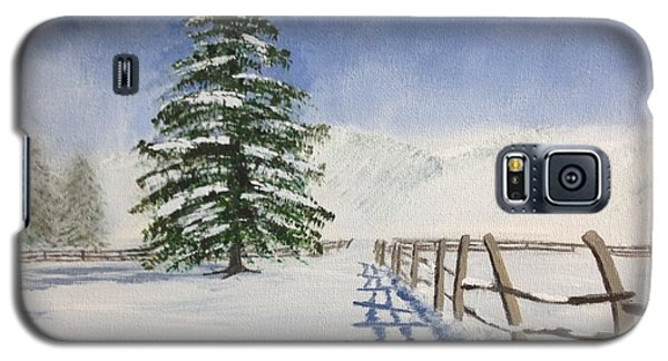 Galaxy S5 Case featuring the painting Winter's Beauty by Cynthia Morgan