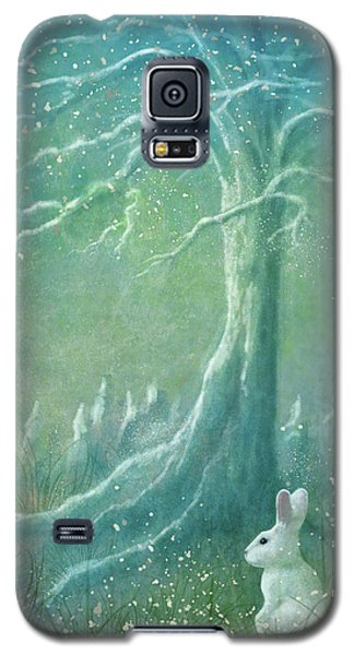 Galaxy S5 Case featuring the digital art Winters Coming by Ann Lauwers