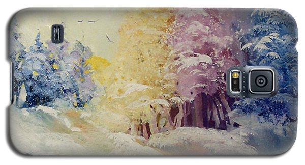 Galaxy S5 Case featuring the painting Winter's Pride by Helen Harris