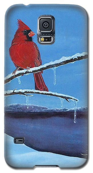 Winter's Red Galaxy S5 Case by Susan DeLain