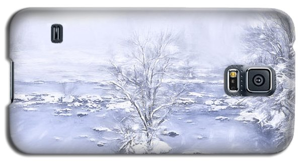 Galaxy S5 Case featuring the painting Winters Roar II by Dan Carmichael