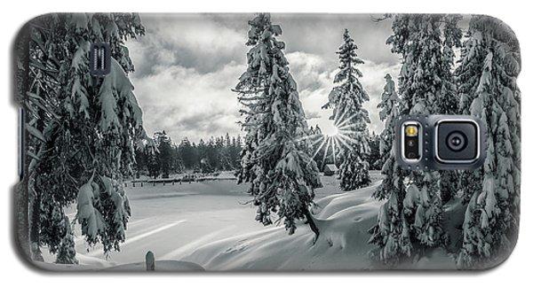 Winter Wonderland Harz In Monochrome Galaxy S5 Case