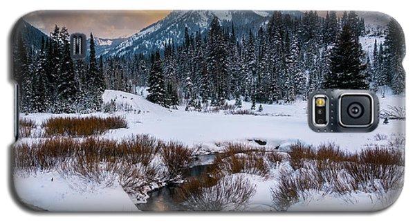 Wintery Wasatch Sunset Galaxy S5 Case