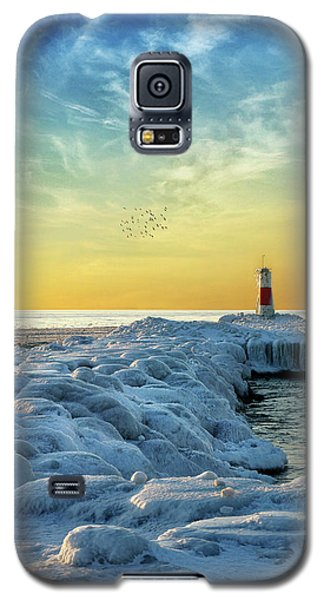 Wintry River Channel Galaxy S5 Case