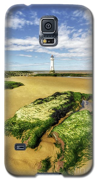 Galaxy S5 Case featuring the photograph Wirral Lighthouse by Ian Mitchell