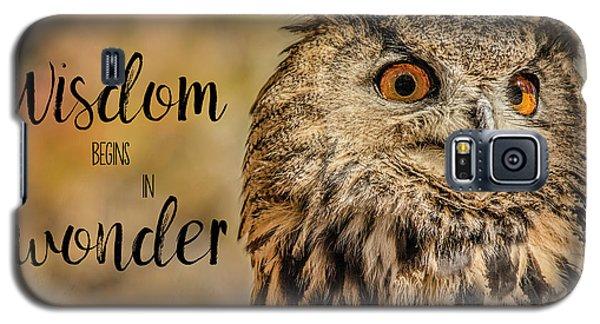 Wisdom Begins In Wonder Galaxy S5 Case