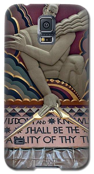 Wisdom Lords Over Rockefeller Center Galaxy S5 Case by Lorraine Devon Wilke