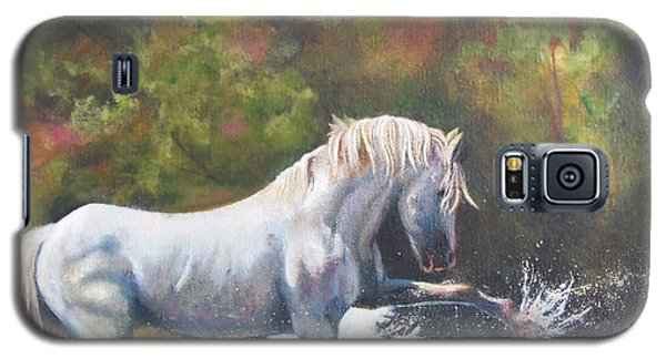 Galaxy S5 Case featuring the painting Wisdom Of The Wild by Karen Kennedy Chatham