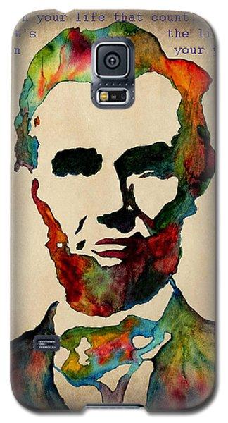 Wise Abraham Lincoln Quote Galaxy S5 Case by Georgeta  Blanaru
